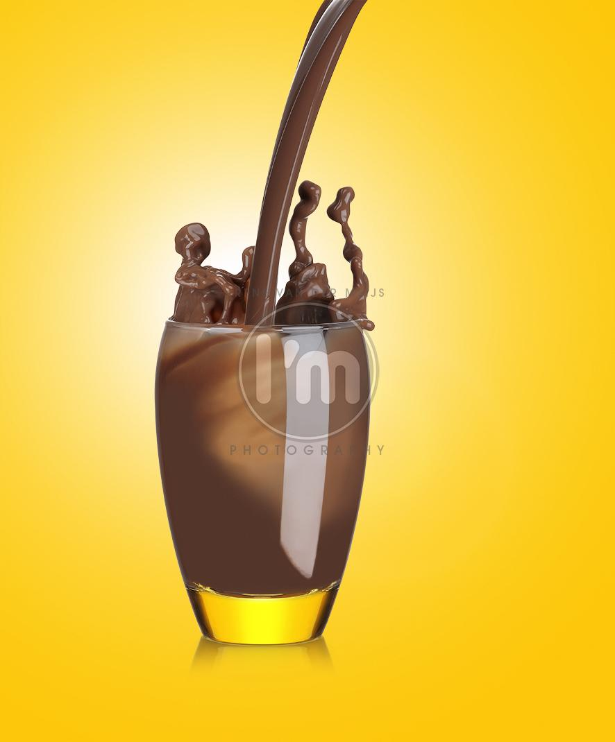packaging fotografie Aldi Chocolade melk met splash